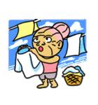天使のピンクおばあちゃん(個別スタンプ:34)