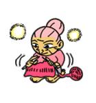 天使のピンクおばあちゃん(個別スタンプ:38)