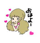 かわいい女の子スタンプ・2(個別スタンプ:01)