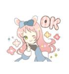 ねこみみっこネココ&うさみみっこロージィ(個別スタンプ:02)