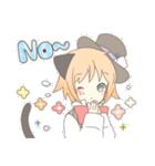 ねこみみっこネココ&うさみみっこロージィ(個別スタンプ:03)