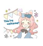 ねこみみっこネココ&うさみみっこロージィ(個別スタンプ:04)