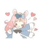 ねこみみっこネココ&うさみみっこロージィ(個別スタンプ:09)