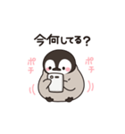 ほのぼの子ペンギン連絡用(個別スタンプ:01)