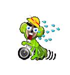 自転車、ヘルメット、三輪車、乗車(個別スタンプ:27)