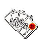 カード、カルタ、おてつき、集合(個別スタンプ:40)