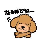 Cute! トイプードルスタンプ(個別スタンプ:07)