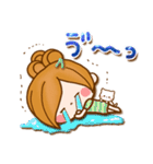 ほのぼのカノジョ【ぷっくりゆるフレンズ】(個別スタンプ:09)