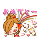 ほのぼのカノジョ【ぷっくりゆるフレンズ】(個別スタンプ:36)