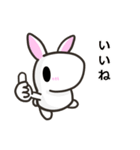 白ウサさん 日常スタンプ(個別スタンプ:01)