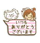 お絵かきガールズスタンプ5~3色敬語ver.~(個別スタンプ:27)