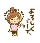 お絵かきガールズスタンプ5~3色敬語ver.~(個別スタンプ:35)