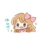 ドットりぼんちゃん(個別スタンプ:18)