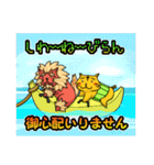 腹巻きぬこ。(沖縄)(個別スタンプ:21)