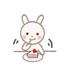 小さな白うさぎ(個別スタンプ:01)