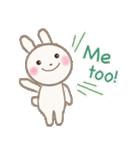 小さな白うさぎ(個別スタンプ:02)