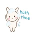 小さな白うさぎ(個別スタンプ:04)