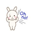 小さな白うさぎ(個別スタンプ:07)