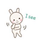 小さな白うさぎ(個別スタンプ:34)