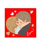 おんなのこたち【ラブラブカップル専用3】(個別スタンプ:32)