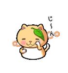 ぽっちゃりたれ耳ミカンネコ(個別スタンプ:07)