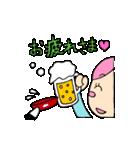 無愛想ネコと女の子(個別スタンプ:03)