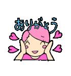 無愛想ネコと女の子(個別スタンプ:14)