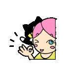 無愛想ネコと女の子(個別スタンプ:19)