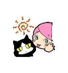 無愛想ネコと女の子(個別スタンプ:38)