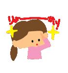 リアクションの女の子3(個別スタンプ:2)