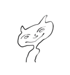 いろんな顔のネコさん(個別スタンプ:02)