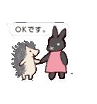 うさぎとハリ3(ふきだし)(個別スタンプ:01)