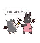 うさぎとハリ3(ふきだし)(個別スタンプ:05)