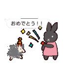 うさぎとハリ3(ふきだし)(個別スタンプ:23)