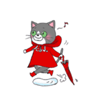 Hiroshima Cat 5 夏(個別スタンプ:7)