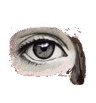 眼は口ほどにモノを言う…かな(個別スタンプ:07)