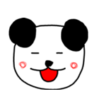 大きな顔のパンダ(個別スタンプ:6)