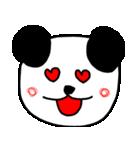 大きな顔のパンダ(個別スタンプ:14)