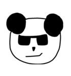 大きな顔のパンダ(個別スタンプ:25)