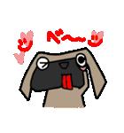 パグ犬2(個別スタンプ:4)