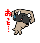 パグ犬2(個別スタンプ:20)