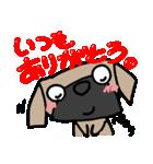 パグ犬2(個別スタンプ:28)
