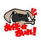 パグ犬2(個別スタンプ:31)