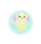ぷかぷか虹色くらげ(個別スタンプ:4)