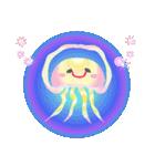 ぷかぷか虹色くらげ(個別スタンプ:8)