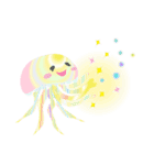 ぷかぷか虹色くらげ(個別スタンプ:15)