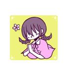 三つ編み少女・ほんわかちゃん(個別スタンプ:3)