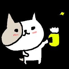 お酒好きねこにゃん Cat beer.