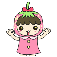 strawberry cute girl