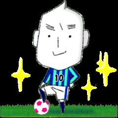 [LINEスタンプ] コメつぶん太 サッカーバージョン